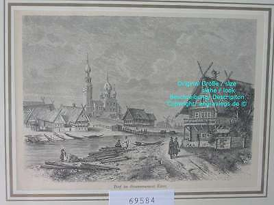 69584-Russland-Russia-Gouvernement Twer-Dorf-TH-1880