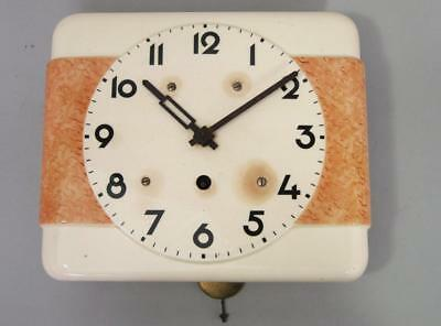 BEAUTIFUL STYLISH ANTIQUE VINTAGE ART DECO WALL CLOCK timepiece