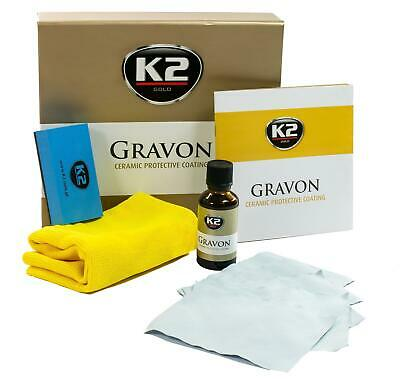 K2 GRAVON Ceramic Coat Nano Sealant Car Paint Glass NO WAX 5years Protection KIT