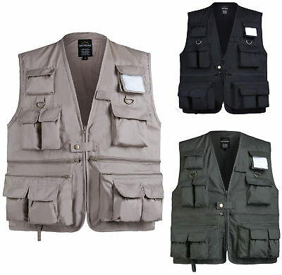 MENS Travel Photographers Touring Vest Fishing Gaming Camping Outdoor Vest