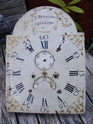ANTIQUE 18th/19thC 8 DAY LONG CASE CLOCK MOVEMENT + DIAL, J. REYNOLDS, COVENTRY.
