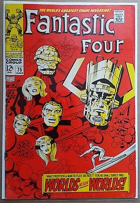 Fantastic Four # 75 'worlds Within Worlds'  Marvel Comics 1968 (Vg+/fn-)