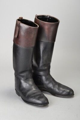Foxhunters' Approx s 7 1/2 Mahogany Top Leather Riding Boots. ZWB