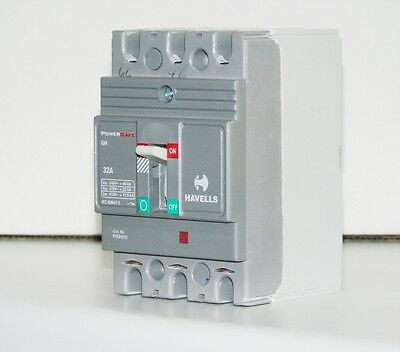 Havels Powersafe G Frame Triple 3 Pole MCCB 32A TP Outgoing Fuse Switch 25kA New
