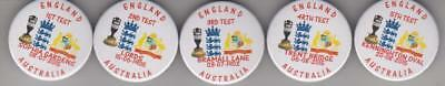 England V Australia 2015 Ashes X5 Button Badges Look!!