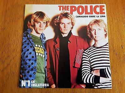 POLICE PS single Walking On The Moon  (A&M AMS 7669 - Spain 1980)