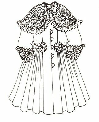"20 - 21"" DOLL COAT pattern victorian Greman French ANTIQUE DESIGN 121"