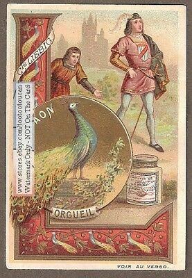 Peacock Represents Arrogance Le Paon c1900 Trade Ad Card