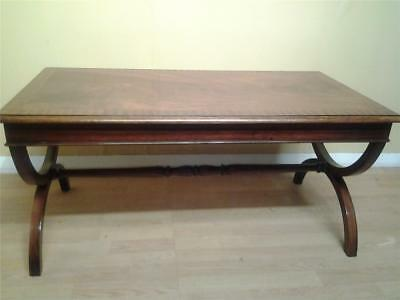 Good quality Regency style  mahogany coffee table x frame