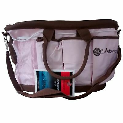 Pink Brown Belstane Large Organiser Bag Nappies Equestrian Gardening Tools