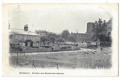EVERSHOLT Church & Recreation Grounds, Beds, Old Postcard Postally Used 1904