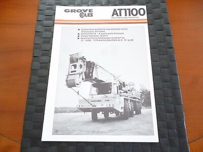 Grove Coles Crane At1100 Grue Hydraulique Tout (Foreign)  Leaflet *as Pictures