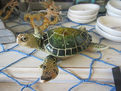 New Beautiful med poly-resin Sea Turtle figure / figurine so realistic Love it