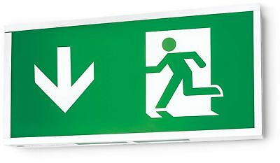 Hispec IP20 5w LED Emergency Fire Exit Sign Box - Maintained or Non Maintained