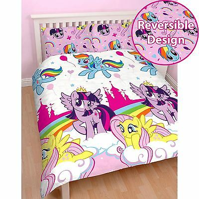 My Little Pony Equestria Double Duvet Cover Set Kids Bedding New Girls