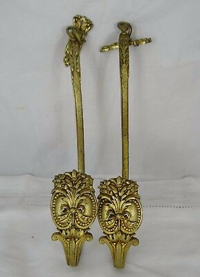 Pair of Antique French Bronze Curtain Tiebacks Louis XVI Style 19th