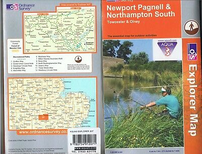 Ordnance Survey Explorer 207 Waterproof Map Newport Pagnell & Northampton South