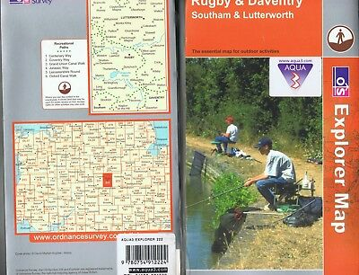 Ordnance Survey Explorer 222 Waterproof Map Rugby Daventry Southam Lutterworth