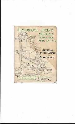RACE CARD 1946 GRAND NATIONAL 100th RUNNING LOVELY COTTAGE BEATS A FIELD OF 34