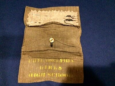 1898 Section C Philadelphia PA Girls High School Sewing Kit Military Style