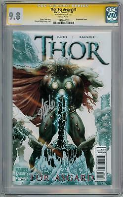 Thor For Asgard #1 Cgc 9.8 Signature Series Signed Stan Lee Movie