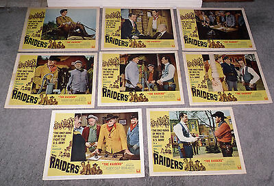 THE RAIDERS orig 1964 lobby card set ROBERT CULP/BRIAN KEITH 11x14 movie posters