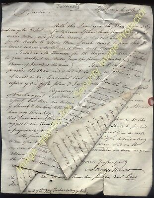 1837 LEYS GRANGE, INVERNESS letter from James Munro, Factor to Capt Baillies