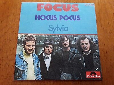 FOCUS PS Single Hocus Pocus (Polydor 20 01 427 - Spain 1973) Progressive Rock