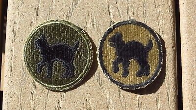 Lot of 2 Different WW2 US Army Military 81st Infantry Division Patch