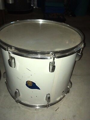 Vintage 1965 Ludwig 15x13 Blue Sparkle Snare Drum Keystone Badge Serial