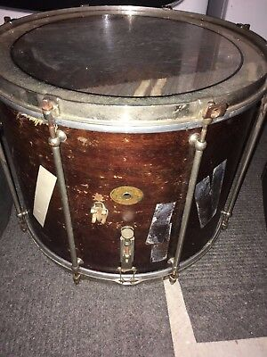 Vintage 1920s Ludwig 15x13 Parade Drum Complete w/ Case Tube Lugs Dual Tension