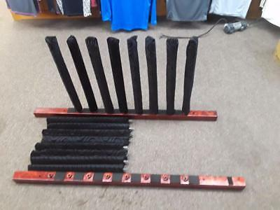 8 Board Anodized Metal Wall Display Rack Red Surfboards/Skateboards/Snowboards