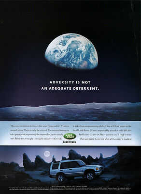 "2001  Ad Land Rover Range Rover ""adversity Is Not A Deterrent"" Moon Space"