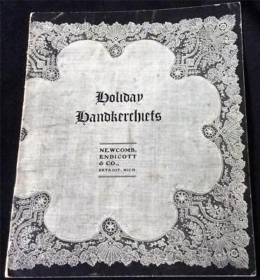 Beautiful 1902-1903 Holiday Lace Handkerchiefs Catalog Newcomb Endicott & Co.