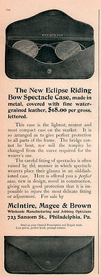 2 1900 A - 03 Ads  Kachoo Guards Mcintire Brown Eclipse Riding Bow  Spectacles