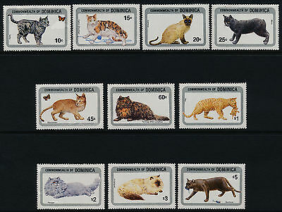 Dominica 874-85 MNH Cats