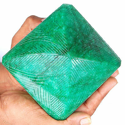 8085 Cts Natural Emerald Finest Green Rare Huge Museum Size Certified Gemstone