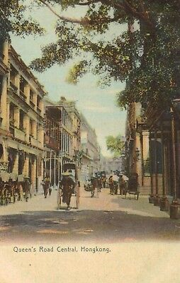 Hong Kong,China,Queen's Road,Central District,c.1909
