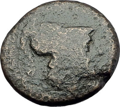 PERGAMON in MYSIA 310BC Authentic Ancient Greek Coin ATHENA BULL OWL BEE i63738