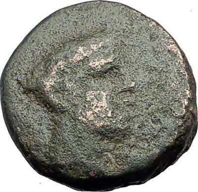LOKRIS Opuntia OPUS mint 350BC Authentic Ancient Greek Coin HERMES GRAPES i63737