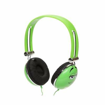 NEW M&M's Stereo Headphones On-Ear 3.5mm AUX For MP3 Smartphones + GREEN COLOR