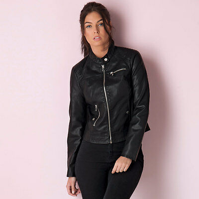 Women&Apos;S Vero Moda Chanine Short Pu Jacket In Black From Get The Label