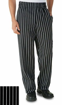 Uncommon Threads Baggy Chef 4000 Pants - Chalk Stripe Black Sizes S to 3X