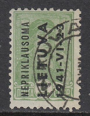 LITHUANIA 1941 German Occupation, 2k, USED  -  scarce