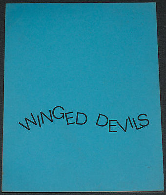 WINGED DEVILS 1971 ORIG. 72 PAGE 8x10 1/2 SCRIPT! BARBARA BOUCHET AERIAL ACTION!