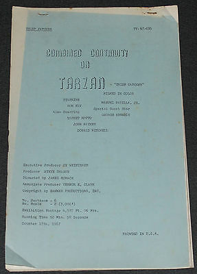 Ron Ely as TV's TARZAN 1967 ORIGINAL 54 PAGE 14x8 COMBINED CONTINUITY SCRIPT!