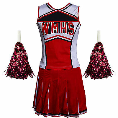 Glee Cheerleader Clothes Skirt High School Cheerleading Costumes 6 8 10 12