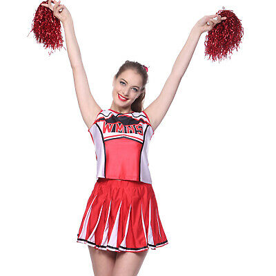 Glee High School Musical Cheerleader Costumes Dress Clothes Outfit Size 6-24 AU