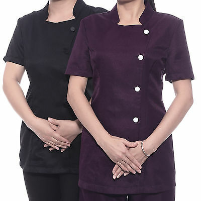 Ladies Therapist Beauty Spa Tunic Nail Salon Hairdressers Wear Womens Uniform