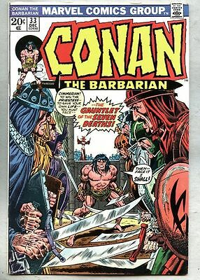 Conan The Barbarian #33-1973 fn+ John Buscema